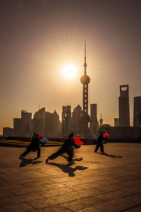Tai Chi on the Bund