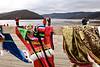 Vêtements de style tibétain vendus aux touristes chinois en visite au lac Bita. Province du Yunnan/Chine