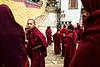 Groupe de jeunes moines dans l'enceinte du monastère de Songzanlin. Province du Yunnan/Chine