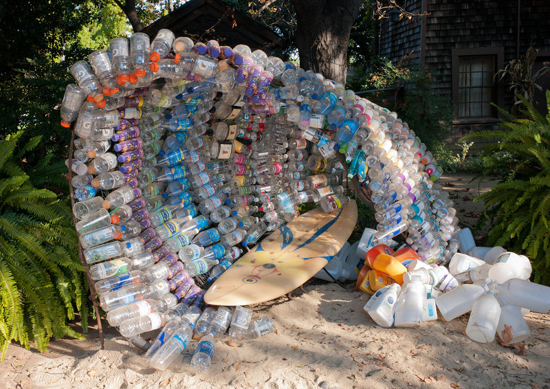 Barreled by Plastic, by artist Kathleen Egan.