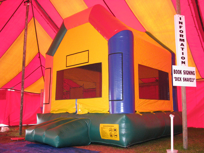 Outside view of the BOUNCEY-HOUSE.