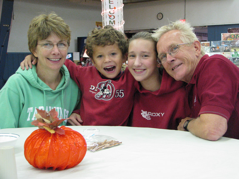 Family Life staff member Jack Hager with (L-R) Jane, Jacob and Janelle
