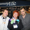 Sally Slapfinger and Derek Dumbdigits find a photo-op at Family Life...