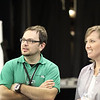 Dan White and Emily Oliver listening intently to some words of wisdom by Jeff Harmon!