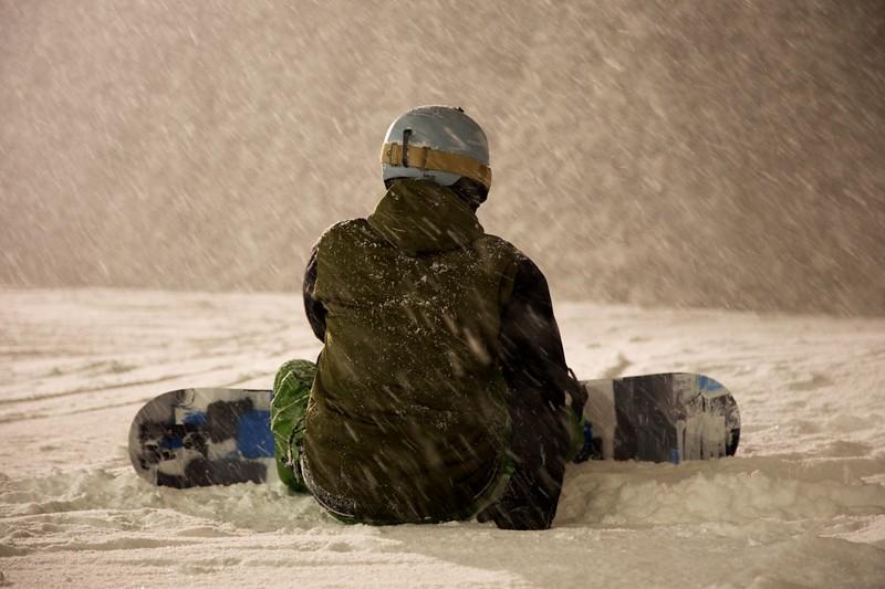 Night Skiing Niseko Japan