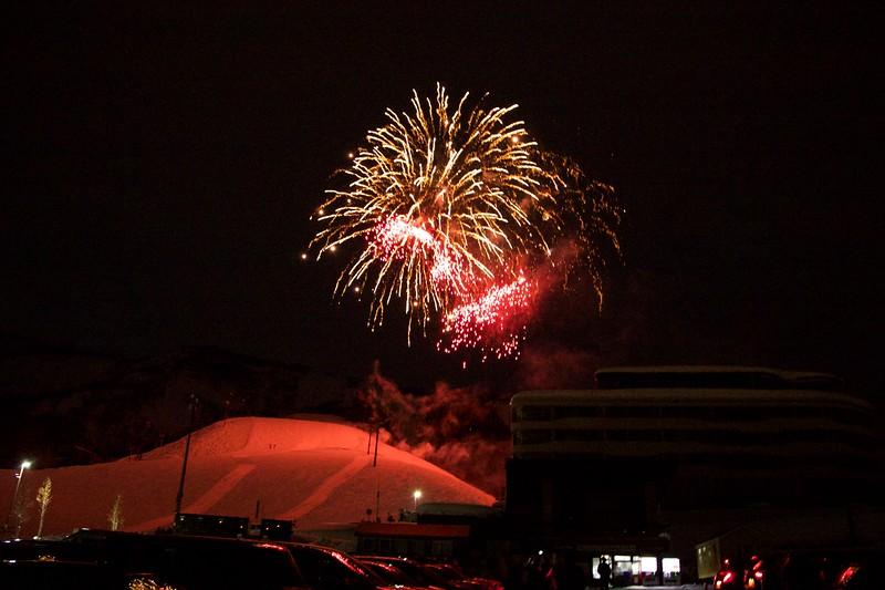 Fireworks Grand Hirafu, Niseko Japan