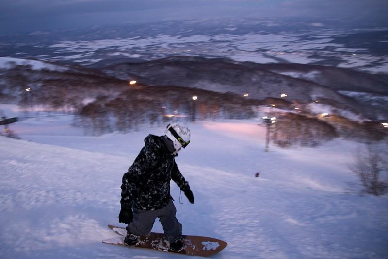 Snowboarder Grand Hirafu, Niseko Japan