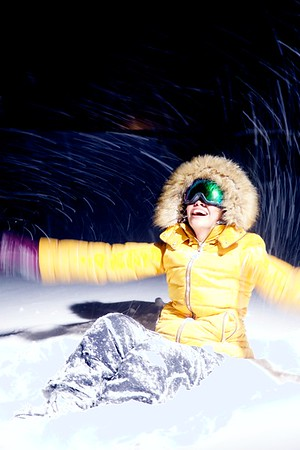 Night Snow Portrait Shiki Niseko