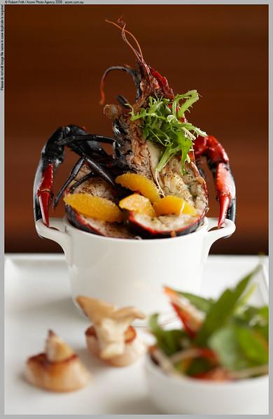 Bathers Restaurant, Smiths Beach Resort<br /> Barbequed marron, green pawpaw salad, nam jim dressing