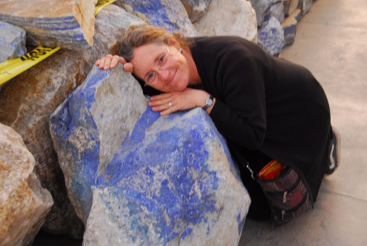 Hugging my favorite rock.