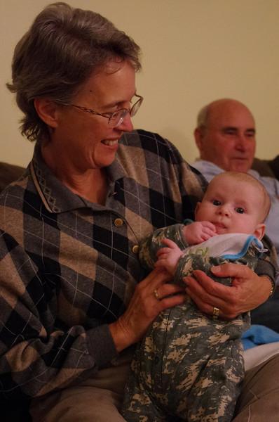 Day 86 (10/24) - Sam and Grandma Diane get acquainted.