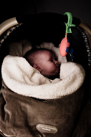 Day 137 (12/14) - Nothing like a car ride to put a fussy baby to sleep.