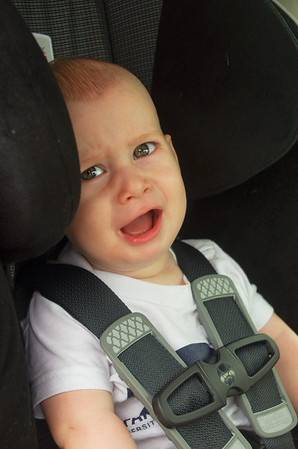 Day 358 (7/23) - Sam has a strict quota of getting in a car seat only 4 times a day, after that he is not a happy camper.