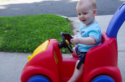 Day 349 (7/14) - Sam has started texting and driving, my insurance rates are going to go through the roof.