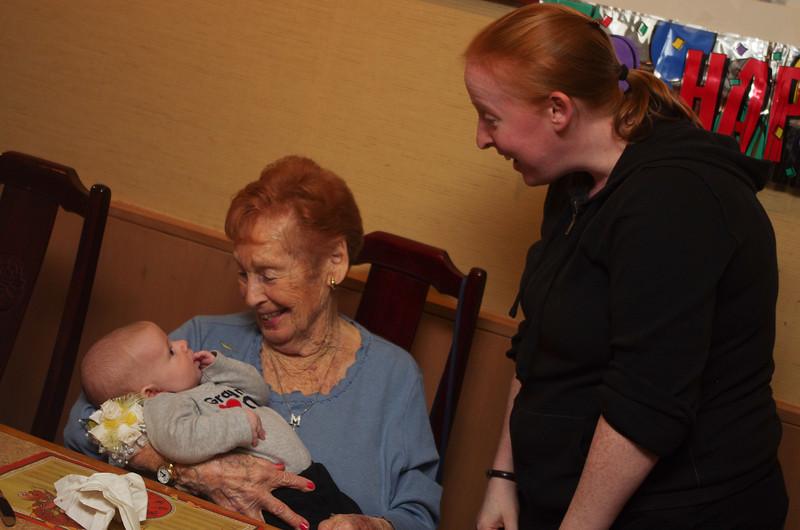 Day 82 (10/20) - Sam has met some great people, but now he's met a Great Grandma!