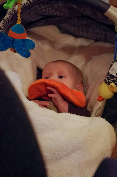 Day 87 (10/25) - Sam's car seat is a little cushy now that we've added his bundle-me.