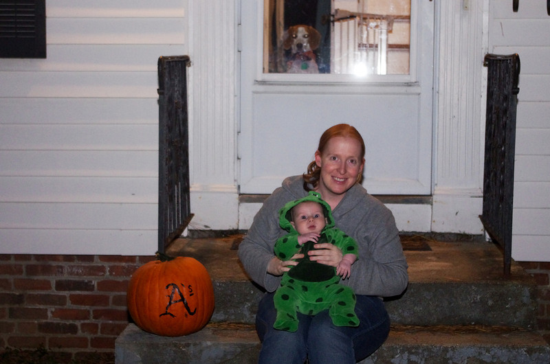 Day 93 (10/31) - A Crawford Halloween includes using Sam to get free candy from neighbors, and Maggie to keep kids away from our stash.