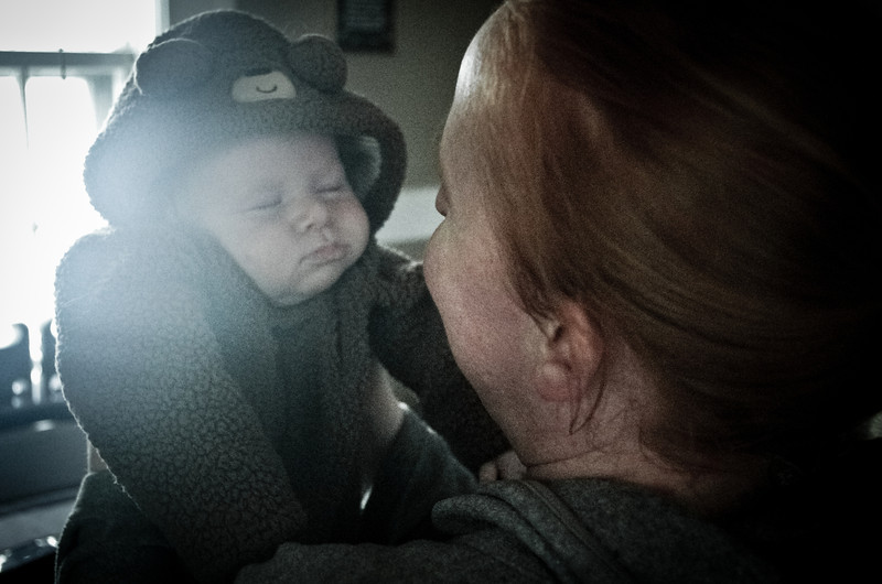 Day 72 (10/10) - Sam likes to fall asleep on long walks in the stroller.
