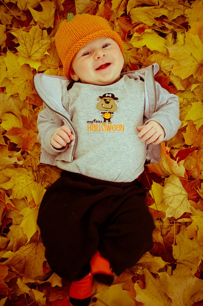 Day 89 (10/27) - Sam enjoys playing in the leaves!