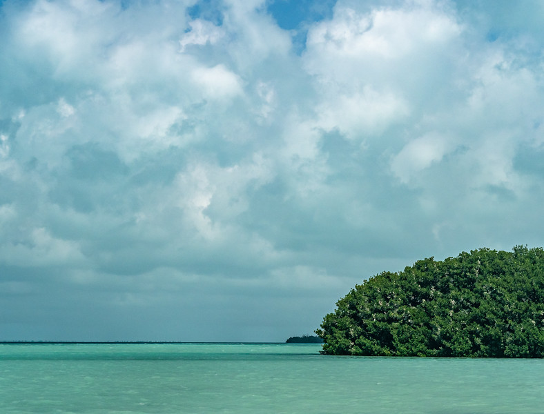 Offshore Mangrove Islands, Clouds, and Dappled Light