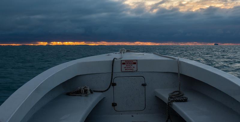 Sunrise on the Horizon en route to Turneffe
