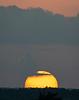 Sun Dipping Below Horizon