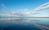 Clouds and Reflection on Still Morning in the Lagoon