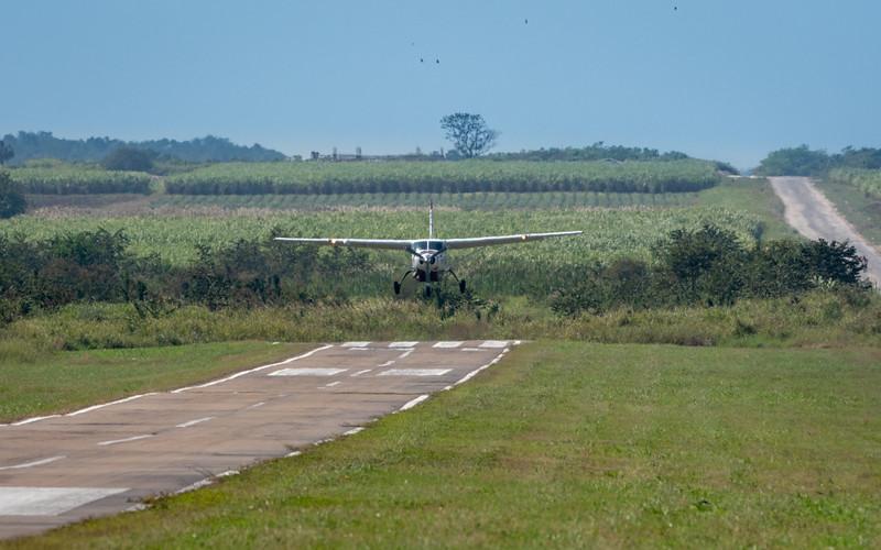 Runway on Edge of Sugar Cane Fields