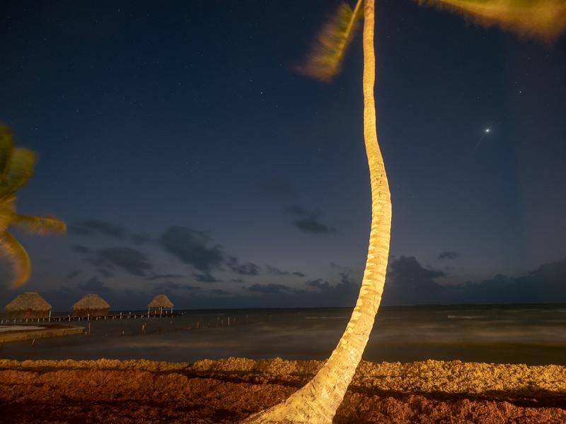 Pre-Dawn Beach Scene, Stars, and Planets, 5:23am