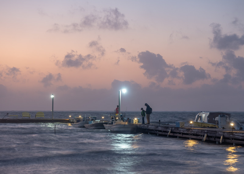 Dad and Son Ready to Board, 5:52am, Feb 21 2019