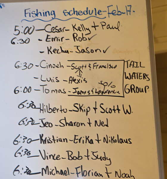 Bob & Judy Fishing with Vince Tomorrow