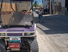 The Minister's Purple Golf Cart
