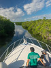 Winding through the Mangrove Channels on the Way Back to Belize City