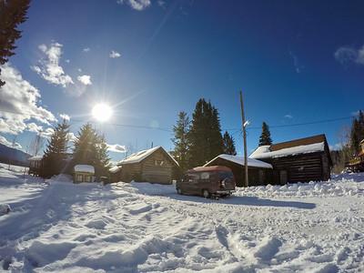 Nakiska Ranch, Helmcken Falls, Wells Gray Provincial Park, BC, Canada. February 2016