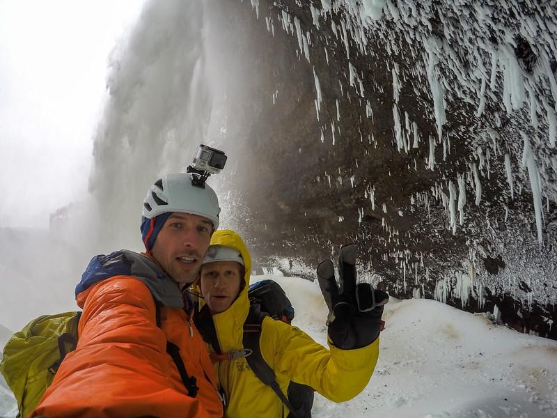 Tim Emmett & Klemen Premrl, Helmcken Falls, Wells Gray Provincial Park, BC, Canada. February 2016