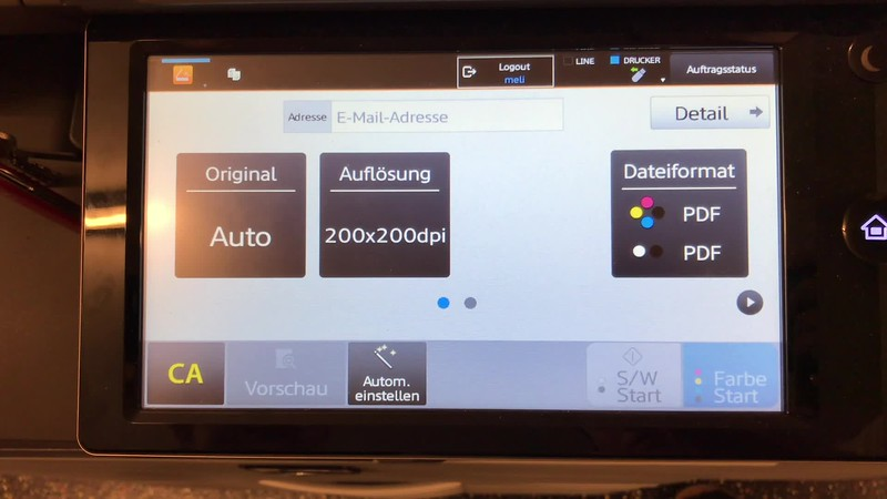 E-Heim Drucker: Scannen