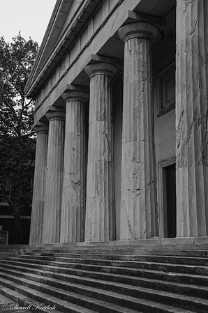 Second Bank of the US, Philadelphia, Black and White
