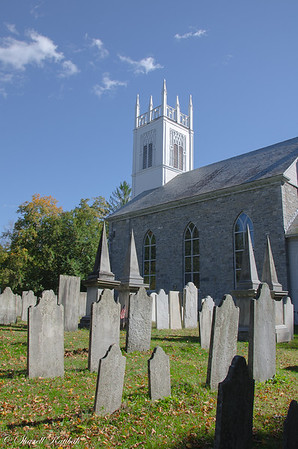 Church and graveyard, Arlington, Vermont