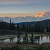 Denali Sunrise and Moose Pond