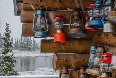 Lanterns in a Snow Storm, Camp Denali