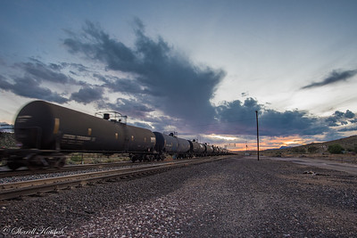 Train at Sunset, Peach Springs