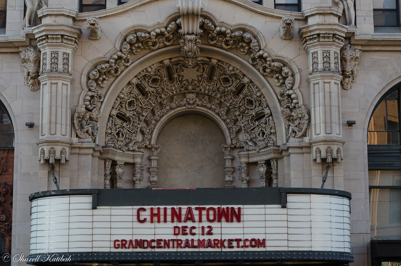 Old theatre marquee