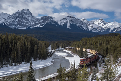 CP Railroad Along Bow River, Banff