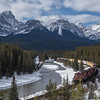 CP Railroad Along Bow River, Banff