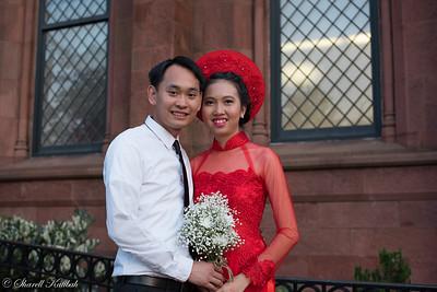 Wedding Photo at Smithsonian Castle