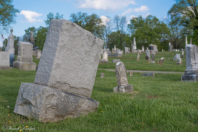 Leaning tombstone