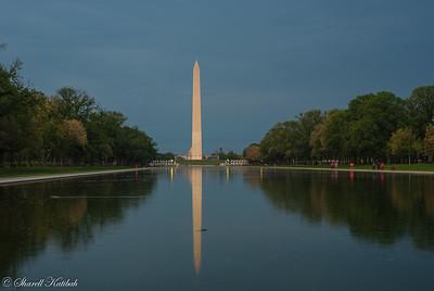 Washington Monument in the Reflecting Pool