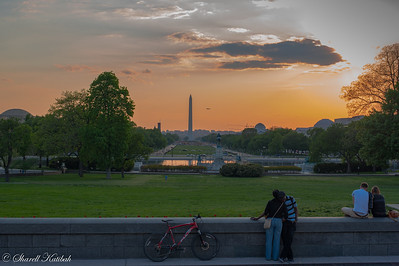 Washington Monument and the Mall from Capitol Hill, Late Afternoon