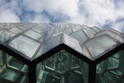 Looking up--the Harpa