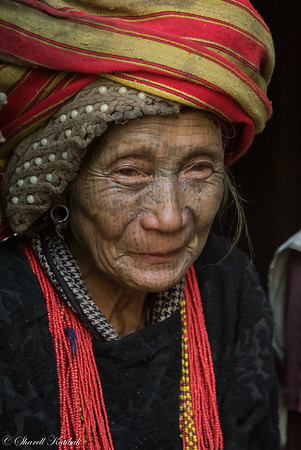 Woman with Headscarf, Kanpetlet, Chin State